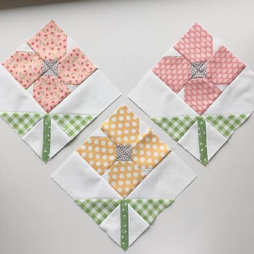 Flower Quilt Blocks - Quilting Pattern