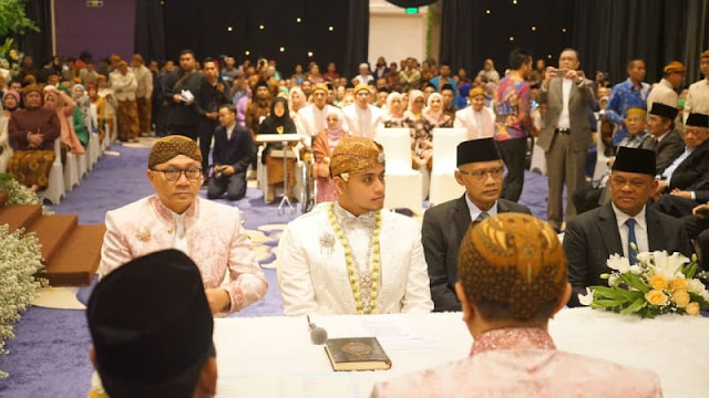 Suasana akad nikah anak Zulkifli Hasan. (Foto: Dok. Istimewa)
