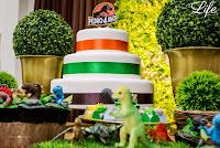 festa de aniversario infantil realizada em casa residencial com tema de dinossauro em porto alegre por life eventos especiais