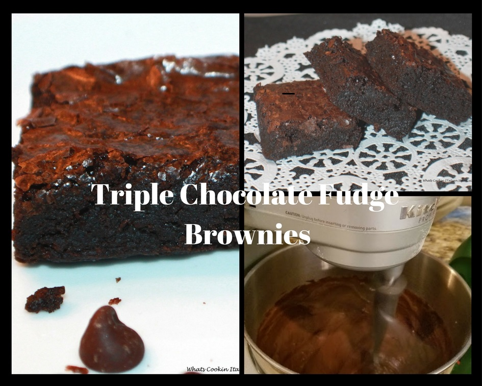 collage of brownies these are a decadent brownie look no further Triple chocolate brownie are the the best for any  chocolate lovers