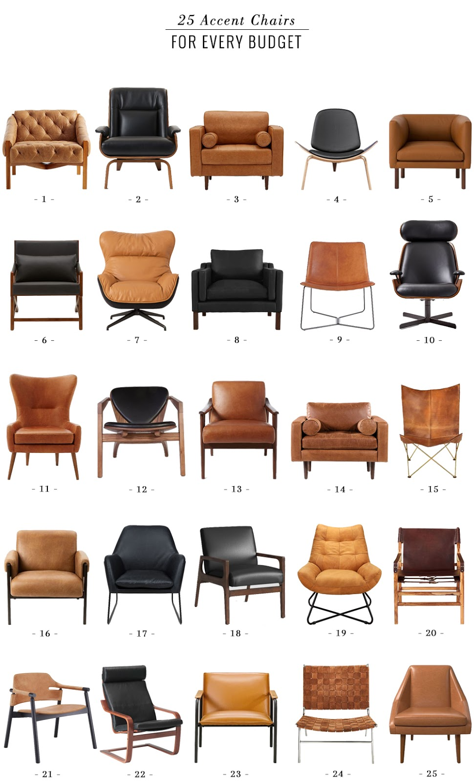 Decor & Interiors: 25 Accent Chairs for All Tastes and Budgets