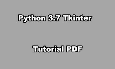 Python 3.7 Tkinter Tutorial PDF