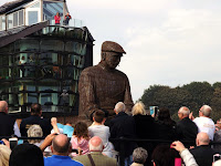 North Shields.Fisherman's Memorial,Fiddlers Green.Roy Lonsdale,Sculptor.Fishing boats