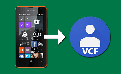 export to vcf windows phone