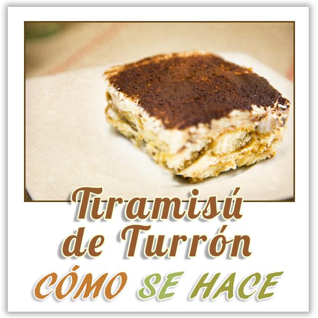 TIRAMISÚ DE TURRÓN