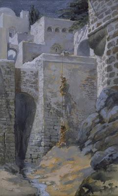המרגלים יורדים בחומה - ג'יימס טיסוט