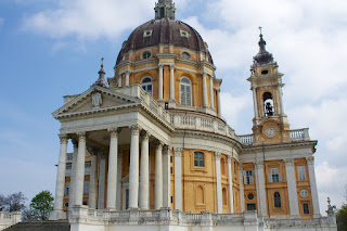 The Basilica di Superga was built by architect Filippo Juvarra on a mountain overlooking Turin