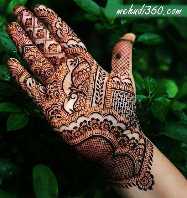 Front Hand Marwari Mehndi Design