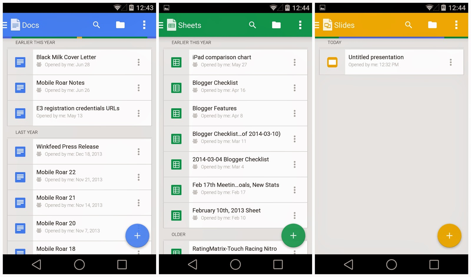APK] Google Updates Docs, Sheets and Slides with New