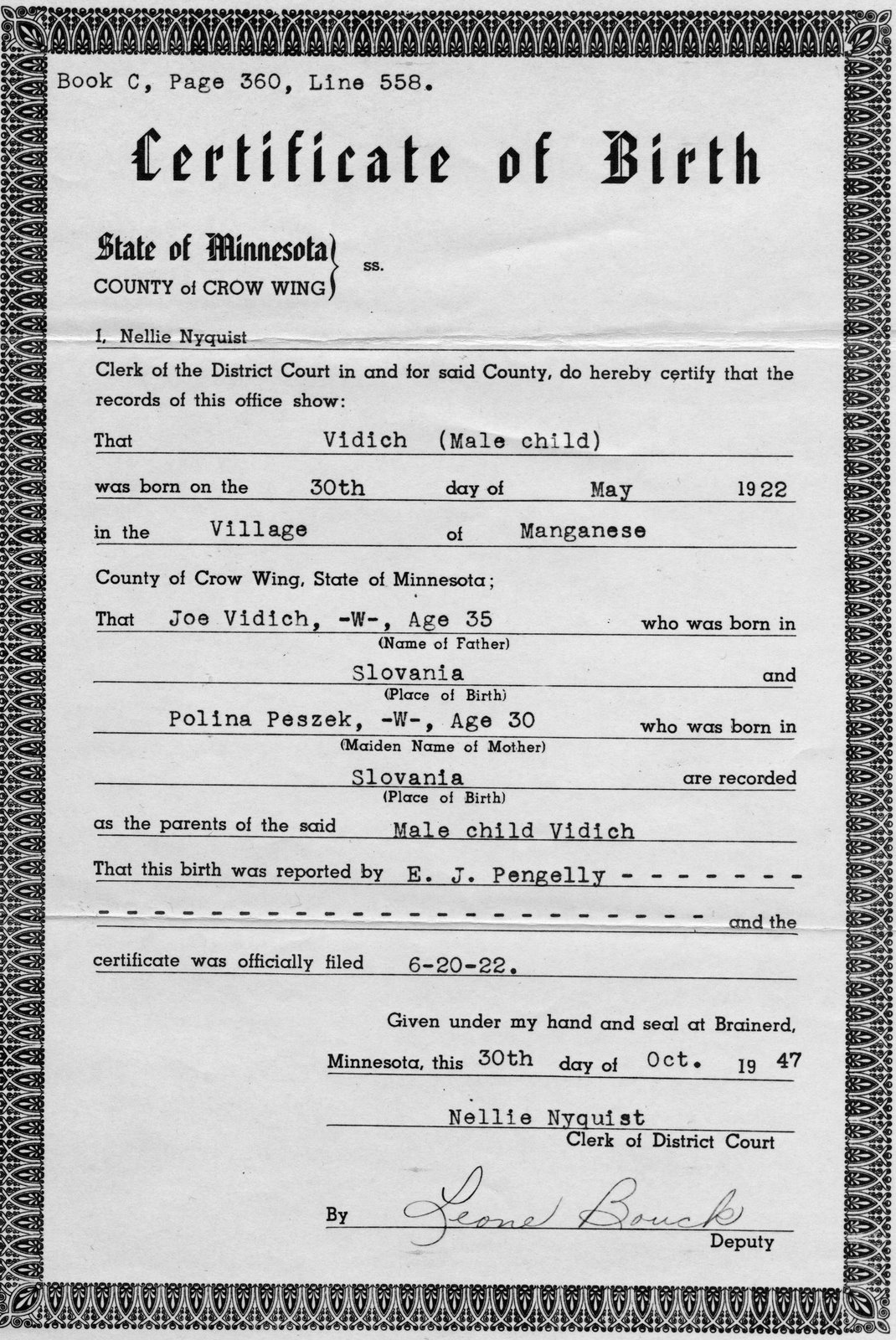A pictorial biography of arthur vidich arts birth certificate a copy of arthur vidichs birth certificate he came into this world without a name and he left this world known as arthur joseph vidich xflitez Gallery