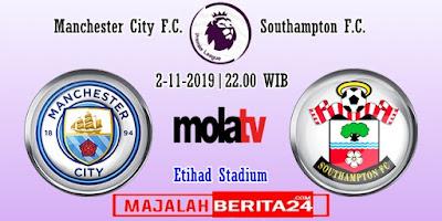 Prediksi Manchester City vs Southampton — 2 November 2019