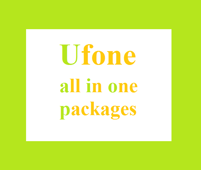 Ufone all in one packages