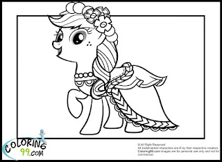 My Little Pony Applejack Coloring Pages | Team colors
