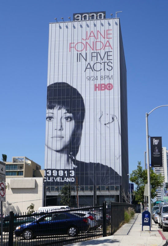 Giant Jane Fonda In Five Acts HBO documentary billboard
