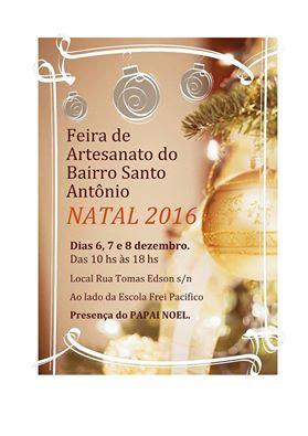 Feira de Natal do bairro santo Antônio