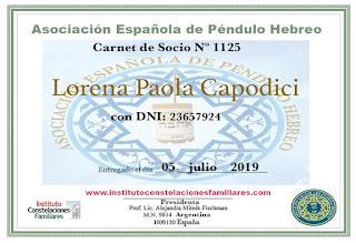 Carnet Asociación Española de Péndulo hebreo
