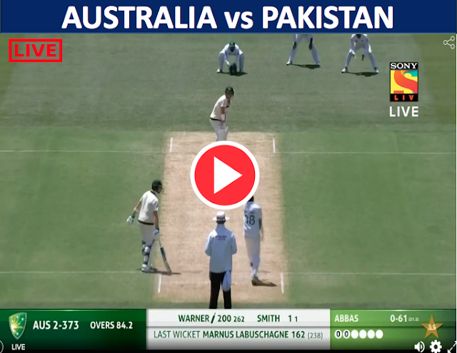 WATCH LIVE MATCH 2:  Australia v Pakistan, 2nd Test (D/N), Warner scored double century