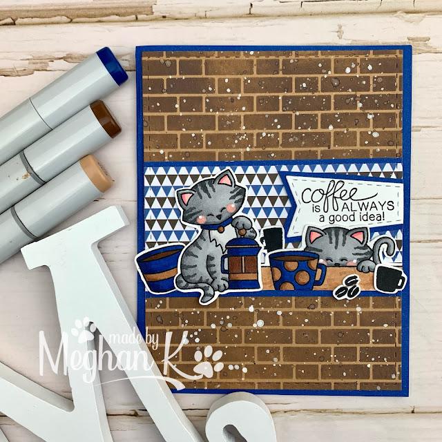 Newton Loves Coffee Cards by August Guest Designer Meghan Kennihan   Newton Loves Coffee Stamp Set by Newton's Nook Designs #newtonsnook #handmade