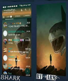 Shark Theme For YOWhatsApp & Fouad WhatsApp By ABM