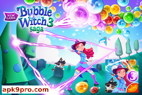 Bubble Witch 3 Saga v6.12.5 Apk + Mod File size 179 MB for android