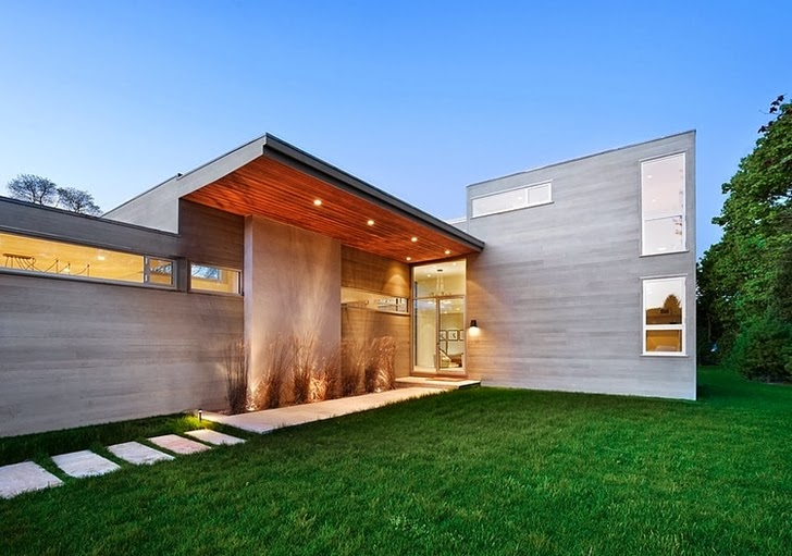 Entrance and facade of Modern house by Blaze Makoid Architecture