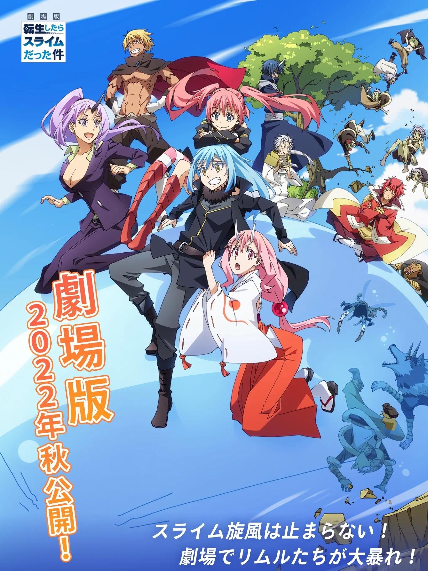 Anunciado Filme de Tensei shitara Slime Datta Ken para 2022
