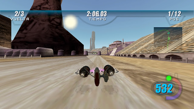 Analisis de Star Wars Episode I: Racer para Playstation 4.