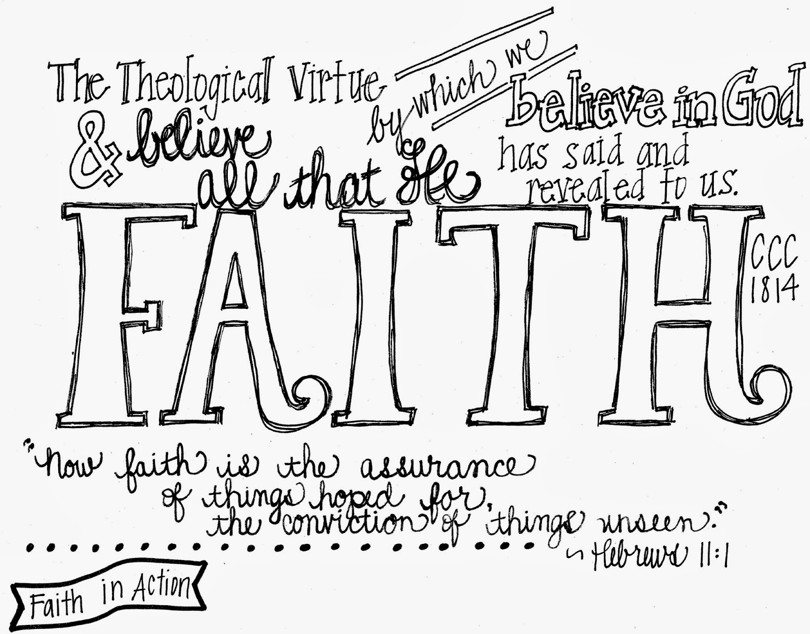 coloring pages for catholic faith | Look to Him and be Radiant: The Theological Virtues