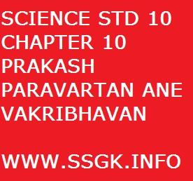 SCIENCE STD 10 CHAPTER 10 PRAKASH PARAVARTAN ANE VAKRIBHAVAN