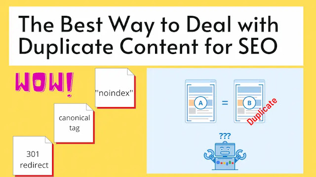 How to deal with duplicate content