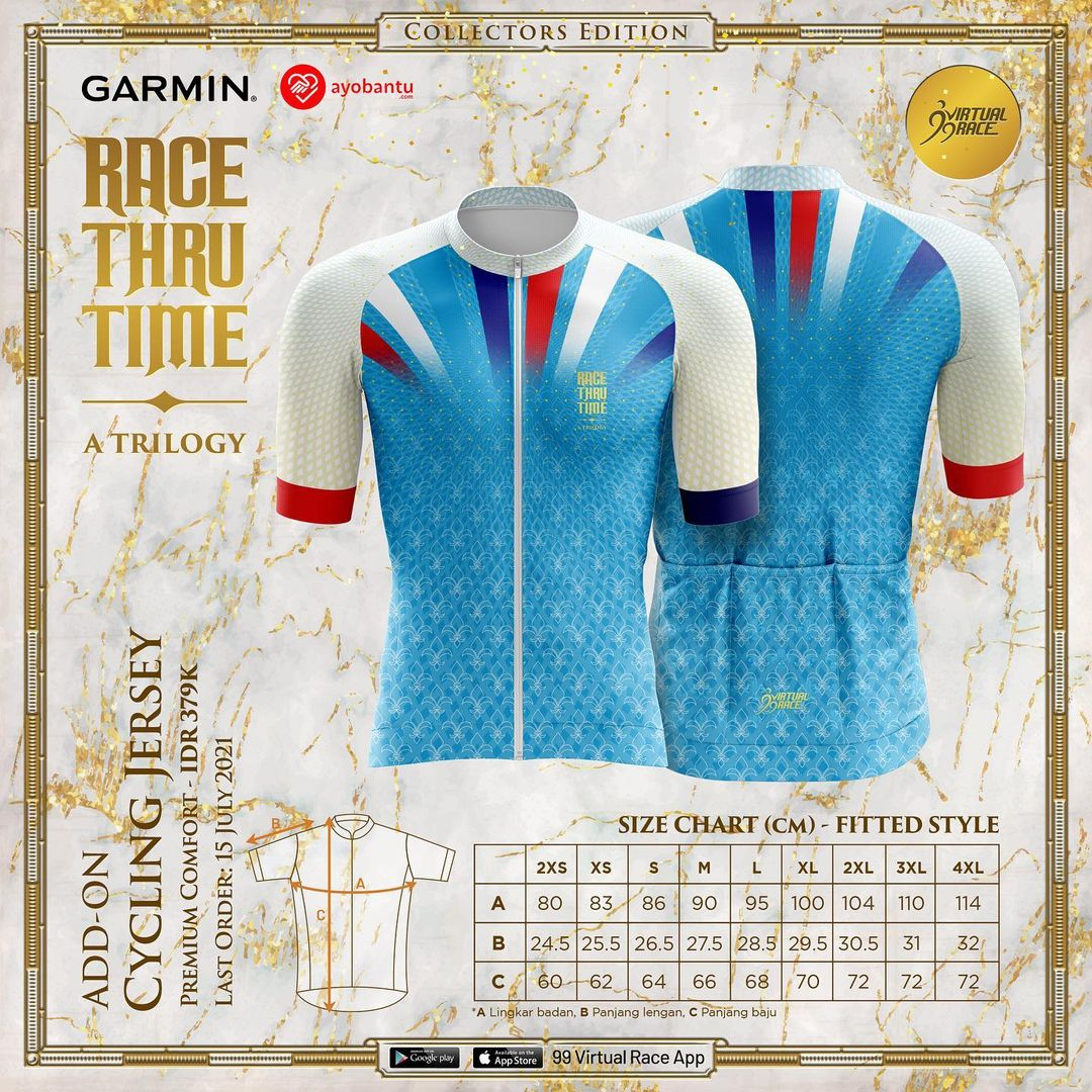 Cycling Jersey 🎽 Race Thru Time - A Trilogy ! Seri I: Speed - The Hourglass • 2021