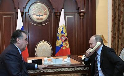 Vladimir Putin, Emomali Rahmon, call Turkmenistan.