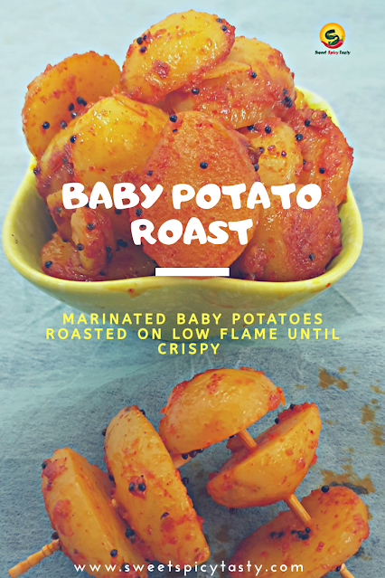 A simple home style delicious baby potatoes stir fry sauteed on slow flame with basic spices, baby potato fry , chinna urulai roast, baby potato roast , south indian style baby potato , basic baby potato fry , simple baby potato fry