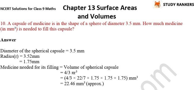 NCERT Solutions for Class 9 Maths Chapter 13 Surface Areas and Volumes Part 25
