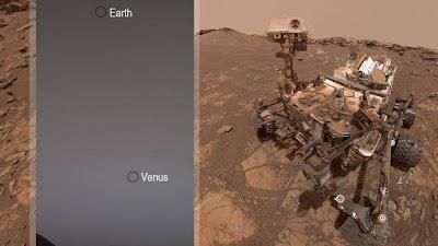 Tierra y Venus desde Marte - Una Galaxia Marravillosa