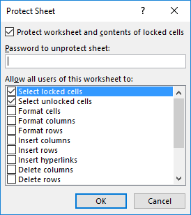 How To Protect Worksheet