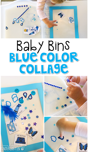 This red color collage is great for learning the color red and it is a completely baby safe craft. Plus there's no glue required so no sticky mess or glue eating to clean up! Baby Bins are perfect for learning with little ones between 12-24 months old.