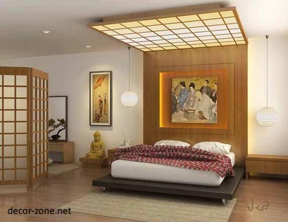 25 bedroom  designs  in Japanese  style lighting colors