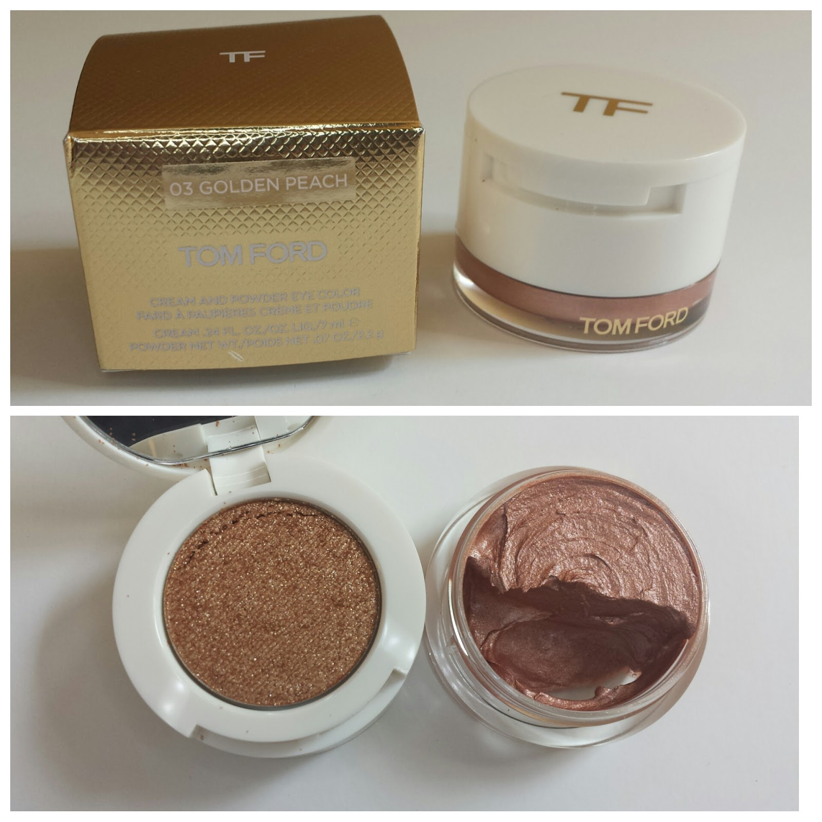 Tom Ford Cream And Powder Eye Color Golden Peach Will Sing For