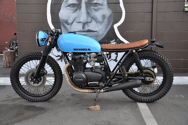 Honda CB550 By Seaweed and Gravel Hell Kustom