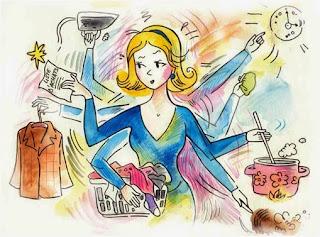 Berbagai Kegiatan Ibu Rumah Tangga di Dapur Bersama Anak