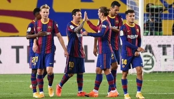 بعض لاعبي برشلونة