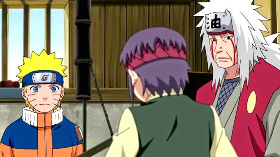 Naruto, Tanishi y Jiraiya