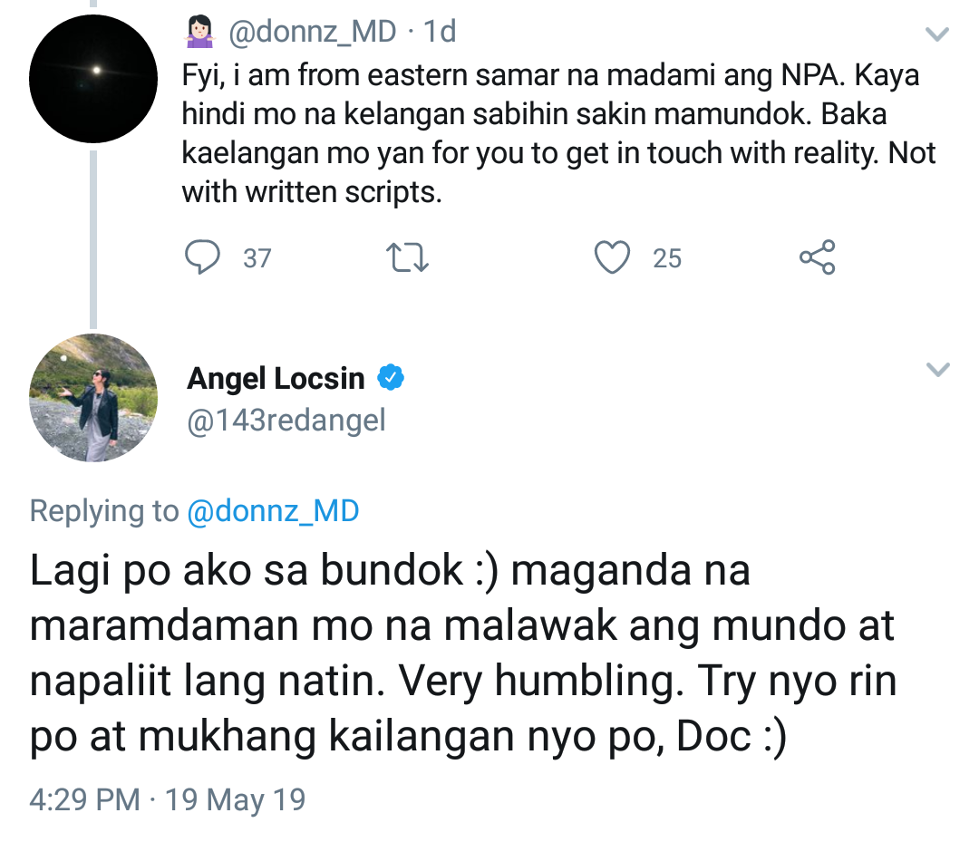 Doctor in Twitter war with Angel Locsin over NPAs in PH