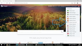 ubah bahasa Indonesia perpustakaan slims