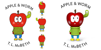 Apple and Worm Red Edition Resin Figure by T.L. McBeth