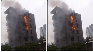 Unity Bank Head Office Gutted By Fire