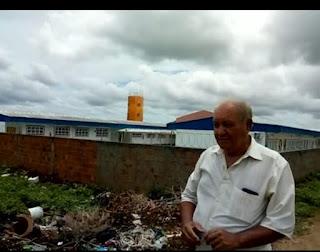 No Bairro Mutirão em Guarabira Sr. Rivo fala sobre a situação de abandono que vive a comunidade