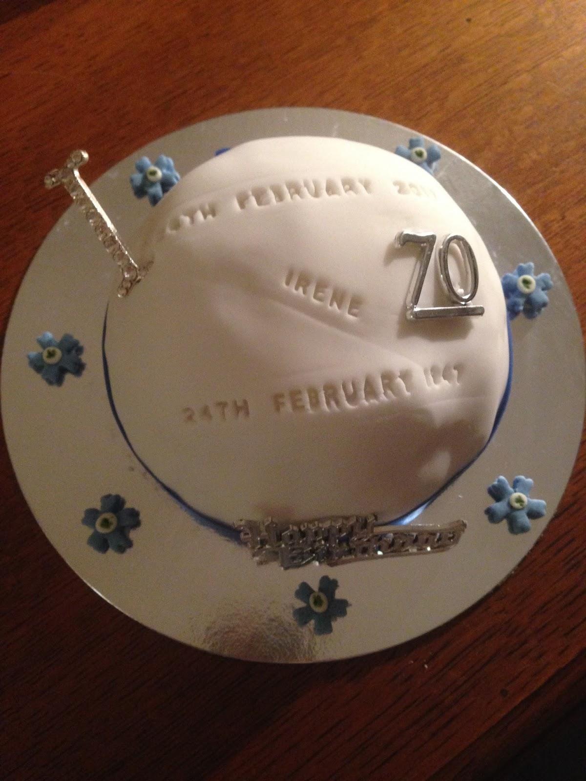Cake Decorating 70th Birthday Cakes April 2017