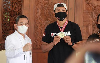 Datang ke Pendopo, Putra Asli Pati Juara MMA Disambut Bupati Pati